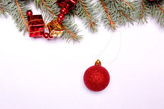 Colorful christmas ball ornaments Royalty Free Stock Images