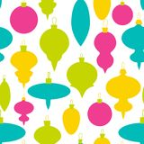 Colorful christmas ball pattern for greeting card, site, banners. Modern decorative design Stock Images