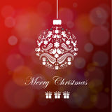 Colorful Christmas Ball in Retro Style. Vector. Illustration Stock Photo
