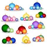 Colorful christmas balls Royalty Free Stock Photos