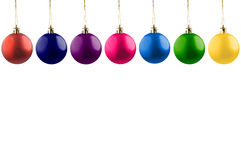 Colorful christmas balls. royalty free stock images