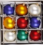 Colorful Christmas balls Royalty Free Stock Photos