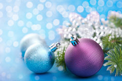 Colorful christmas balls Stock Photos