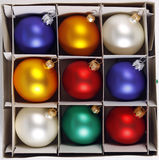 Colorful Christmas balls Stock Image