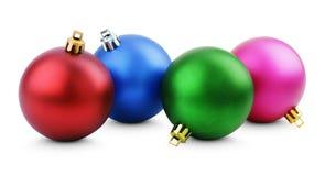 Colorful christmas balls Stock Images