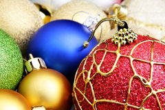 Colorful christmas balls stock images