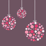 Colorful Christmas Balls. Abstract Christmas Balls With Ribbons Royalty Free Stock Photos