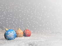 Colorful Christmas balls - 3D render Royalty Free Stock Images