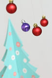 Colorful Christmas balls decorations Stock Image