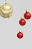 Colorful Christmas balls decorations Stock Photography