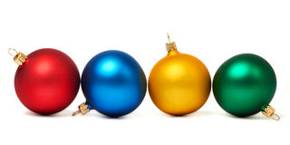 Colorful Christmas balls isolated Stock Images