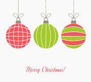 Colorful Christmas balls Stock Photo