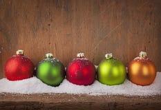 Colorful christmas balls Royalty Free Stock Photography
