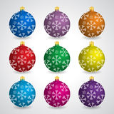 Colorful christmas balls Royalty Free Stock Images
