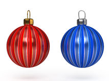 Colorful christmas balls. Set of decorations. Royalty Free Stock Photography
