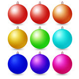 Colorful christmas balls. Set of isolated decorations. Vector illustration royalty free illustration