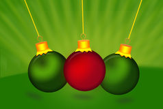 Colorful christmas balls. Set of isolated realistic decorations Stock Photography