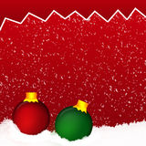 Colorful christmas balls. Set of realistic decorations Stock Photography