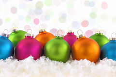 Colorful Christmas balls Stock Photography