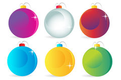 Colorful christmas balls vector icons set Royalty Free Stock Images