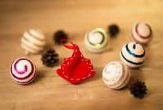 Colorful Christmas balls Stock Photography