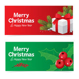 colorful christmas banner Royalty Free Stock Images