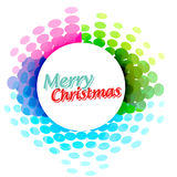 Colorful christmas banner. Vector colorful christmas banner design Stock Photo