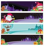 Colorful Christmas banners. Vector set of cute Christmas banners with space for your text Stock Photography