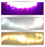 Colorful christmas banners. Glowing colorful christmas banners. Vector eps10 Royalty Free Stock Image