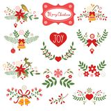 Colorful Christmas banners. Ideal for invitations and Christmas cards Stock Image