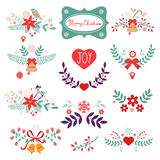 Colorful Christmas banners. Ideal for invitations and Christmas cards Stock Photography