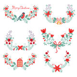 Colorful Christmas banners. Ideal for invitations and Christmas cards Royalty Free Stock Photo