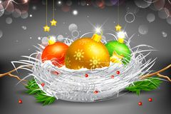 Colorful Christmas Bauble Stock Image