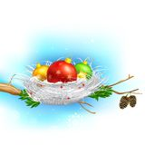 Colorful Christmas Bauble Royalty Free Stock Photography
