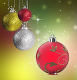 Colorful christmas bauble balls Royalty Free Stock Images