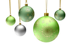 Colorful christmas bauble balls Stock Photo
