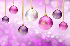 Colorful christmas bauble balls Royalty Free Stock Image