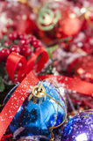 Colorful Christmas Baubles Royalty Free Stock Photos