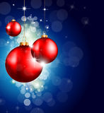 Colorful Christmas Baubles Background Stock Photo