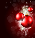 Colorful Christmas Baubles Background Royalty Free Stock Photography