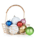 Colorful christmas baubles Royalty Free Stock Photography