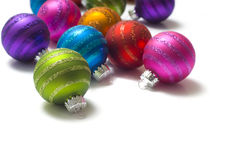 Colorful Christmas Baubles Or Balls Royalty Free Stock Images