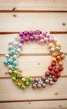 Colorful christmas baubles Stock Photo
