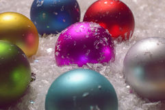 Colorful christmas baubles Royalty Free Stock Photo