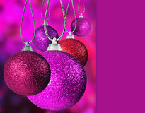 Colorful christmas baulble balls Royalty Free Stock Images