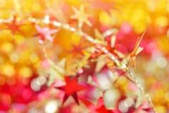 Colorful Christmas bokeh background Stock Photos