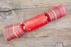 Colorful Christmas Bon Bons. A studio photo of christmas crackers Stock Photography