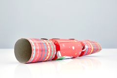 Colorful Christmas Bon Bons. A studio photo of christmas crackers Royalty Free Stock Photography