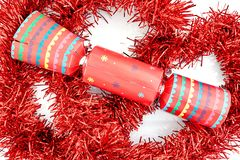 Colorful Christmas Bon Bons. A studio photo of christmas crackers Royalty Free Stock Photo