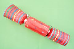 Colorful Christmas Bon Bons. A studio photo of christmas crackers Royalty Free Stock Images